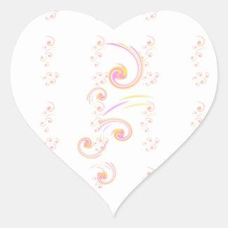 Épouser l'ensemble léger stationnaire de boucle sticker cœur
