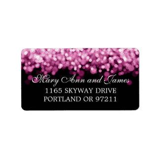 Épouser les lumières roses d adresse étiquettes d'adresse
