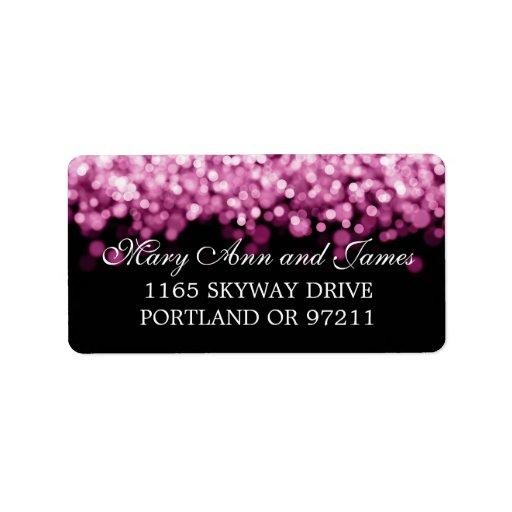 Épouser les lumières roses d'adresse étiquettes d'adresse