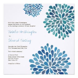 Épouser l'invitation de fleurs de fleur de bleu Ce