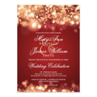Épouser l'or de scintillement de lumières carton d'invitation  12,7 cm x 17,78 cm