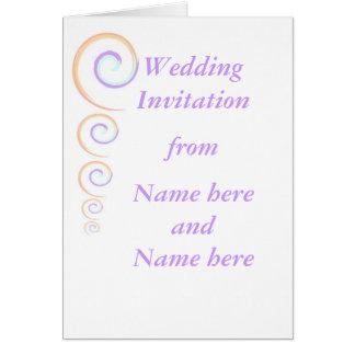 Épouser moderne de torsion stationnaire, carte de vœux