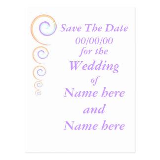 Épouser moderne de torsion stationnaire, font gagn carte postale