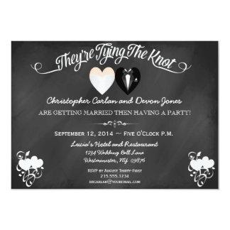 Épouser pré l'invitation de tableau de faire-part