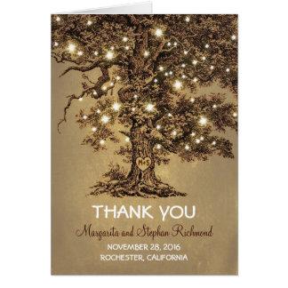 épouser romantique de lumières de vieil arbre vous carte de correspondance