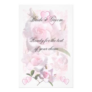 Épouser rose de ~ de perfection stationnaire papier à lettre personnalisé