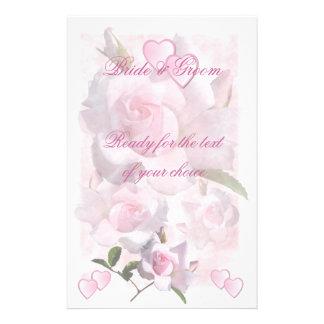 Épouser rose de ~ de perfection stationnaire papier à lettre customisable
