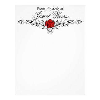 Épouser rose de vigne stationnaire en-tête de lettre customisable