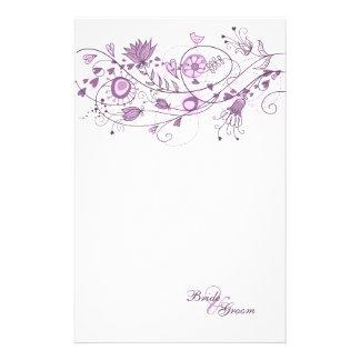 Épouser stationnaire - lavande lunatique 1 motifs pour papier à lettre