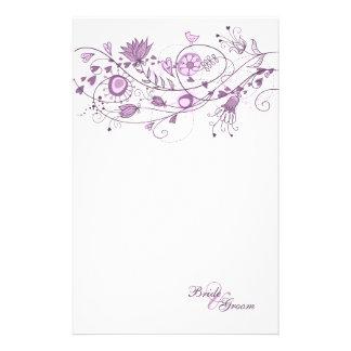 Épouser stationnaire - lavande lunatique 1 papier à lettre personnalisé