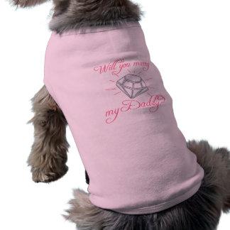 Épouserez-vous mon papa manteaux pour animaux domestiques