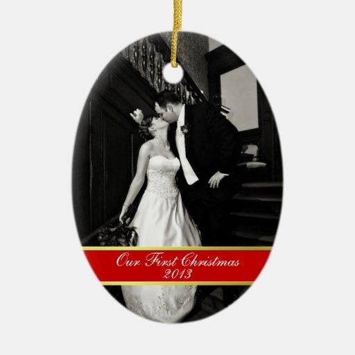 Épousez nouvellement le premier ornement de Noël
