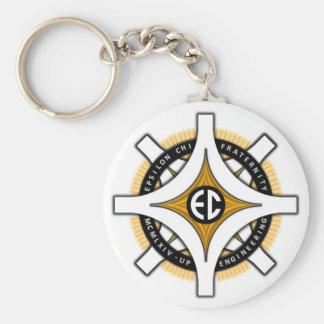 Epsilon Chi White Background Keychain