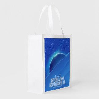Epsilon Eridani b sci-fi Travel poster Reusable Grocery Bag