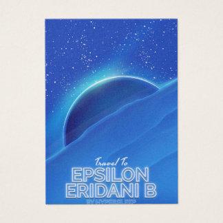 Epsilon Eridani b science fiction Travel poster Business Card