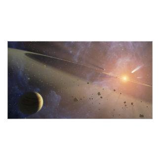 Epsilon Eridani de système planétaire Impressions Photo