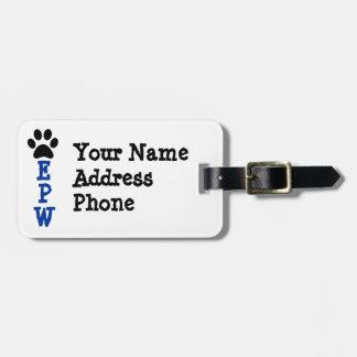EPW luggage tag