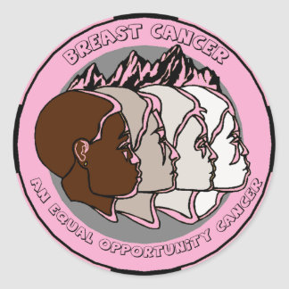 Equal Opportunity Breast Cancer Round Sticker