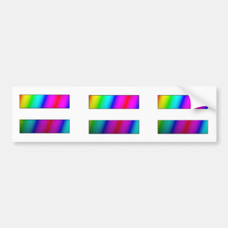 Equal.  Period.  THREE rainbow equality stickers. Bumper Sticker