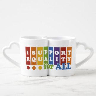 Equal Rights couple's mugs Lovers Mugs