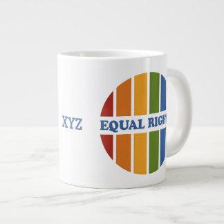 Equal Rights custom mugs Jumbo Mug