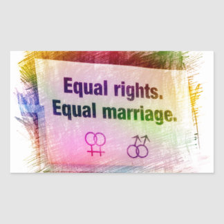 Equal Rights Equal Marriage Sticker