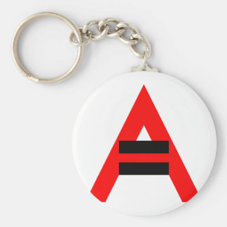 Equal Rights for Atheists (Black) Basic Round Button Keychain