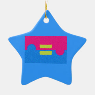 Equal Rights Logo, Impressionist's Style Ceramic Star Ornament