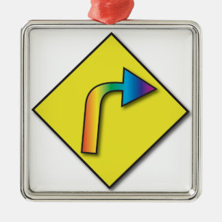 equal rights - Silver-Colored square ornament