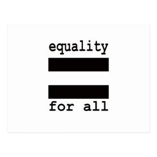 EQUALITY FOR ALL POSTCARD