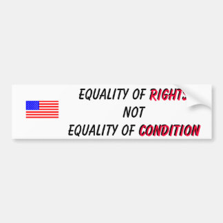 Equality of Rights Car Bumper Sticker