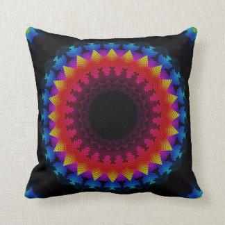 Equalizer Mandala Throw Pillow