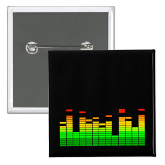 Equalizer Vibes from the Beat of DJ Music 2 Inch Square Button