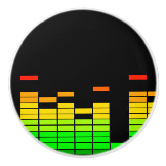 Equalizer Vibes from the Beat of DJ Music Ceramic Knob