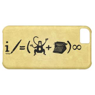 Équation drôle de machine à écrire de singe d'aute coque iPhone 5C