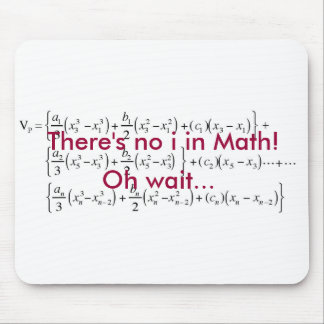 equation, There's no i in Math!, Oh wait... Mouse Pad