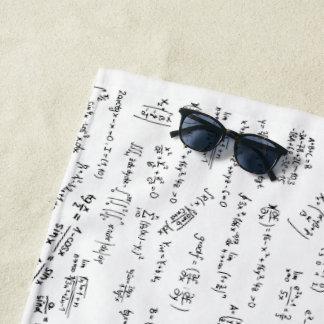 Equations And Math Formulas Beach Towel