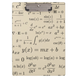 Equations of Math and Science Clipboard