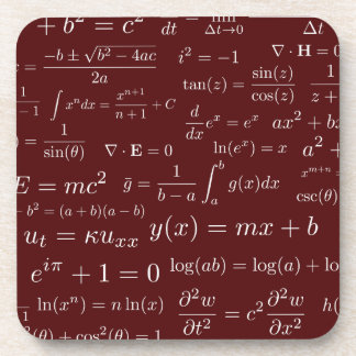 Equations of Math and Science Coasters - set of 6