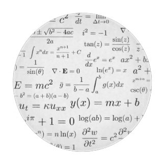 Equations of Math and Science Glass Cutting Board