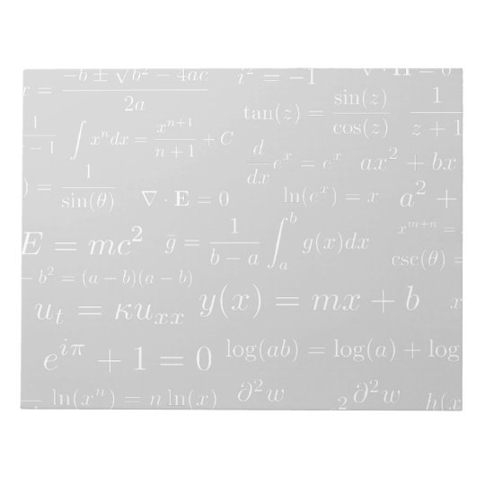 Equations of Math and Science Notepad