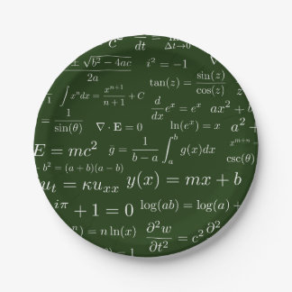 Equations of Math and Science Paper Plates