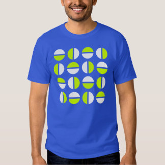 Equator geometric t-shirt in green and white