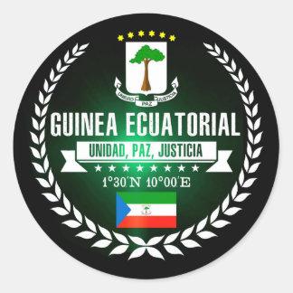 Equatorial Guinea Classic Round Sticker