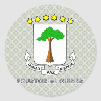 Equatorial Guinea Coat of Arms Classic Round Sticker