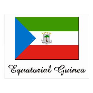 Equatorial Guinea Flag Design Postcard