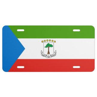 Equatorial Guinea Flag License Plate