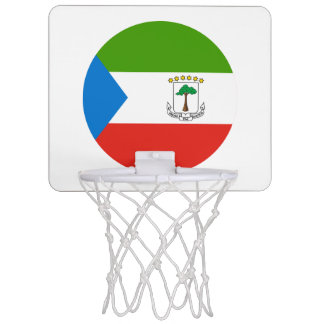 Equatorial Guinea Flag Mini Basketball Hoop