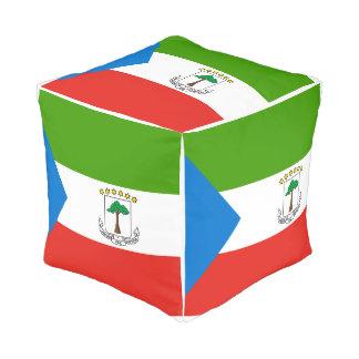 Equatorial Guinea Flag Pouf