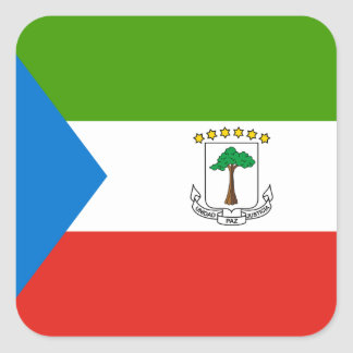Equatorial Guinea Flag Square Sticker